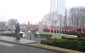 Manifestacja pracowników spółki Lotos Kolej