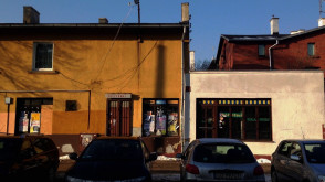 Oliwa - opuszczona księgarnia i kiosk