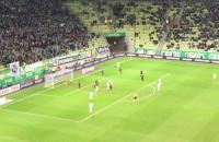 Grzegorz Wojtkowiak ustala wynik meczu Lechia - Cracovia na 4:2