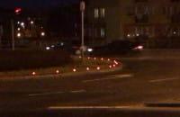 Znicze na rondzie ku czci żołnierzy wyklętych