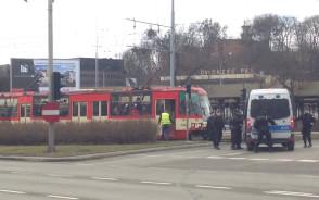 Policjanci wezwani do tramwaju