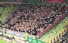 Kibice Legii świętują zwycięstwo w Gdańsku