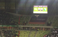 Kamera pająk nad boiskiem w meczu Lechii z Legią