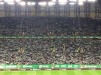 Pełne trybuny podczas prezentacji na meczu Lechia - Legia