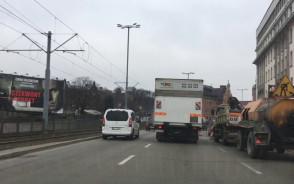 Zator pod prokuraturą na Wałach Jagiellońskich