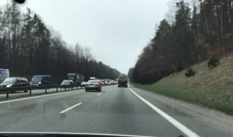 Skutki kolizji na obwodnicy w Karwinach