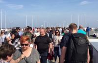 Tłumy na molo w Sopocie