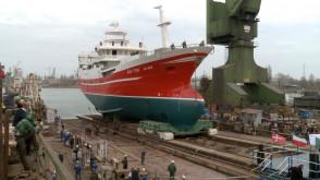 Wodowanie statku rybackiego M/V Aine