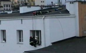 Akcja ratunkowa strażaków