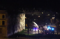 Pożar w budynku firmy Batycki na Dolnym Mieście