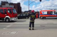 Skutki wypadku na ul. Rybaki Górne