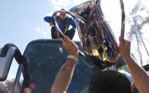 Kibice Arki przywitali Puchar Polski w Gdyni