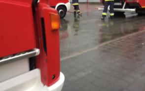 Pożar w Leclerc