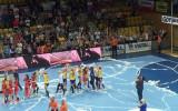 Ostatnie sekundy meczu i radość Vistalu Gdynia
