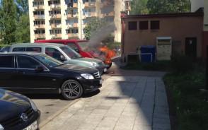 Pożar samochodu na ul. Helskiej