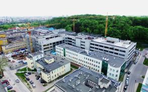 Budowa Centrum Medycyny Nieinwazyjnej z lotu ptaka