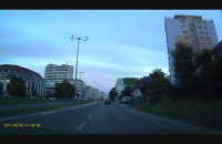 Część pościgu za czarnym volkswagenem w Gdyni