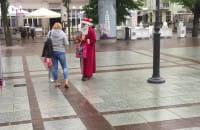 Św Mikołaj na wakacjach w Sopocie