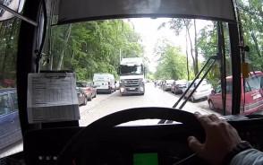 TIR jadący pod prąd na Smoluchowskiego