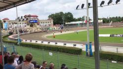 Wyścig 7. meczu żużlowców Wybrzeże Gdańsk - Orzeł Łódź