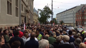 Protest pod sądem w Gdańsku