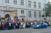 Protest przed sądem w Gdansku