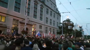 Łańcuch świateł w Gdańsku