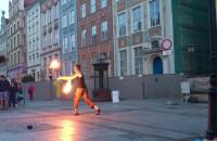 Fireshow na Długiej występuje Marcin