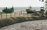 Rwące ujście rzeki Kaczej w Orłowie