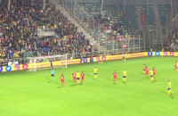 Marcus gol na 2:2 w meczu Arka - FC Midtjylland