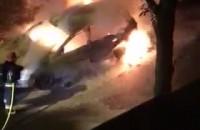 Pożar samochodu na Kamiennej Górze