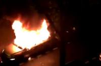 Pożar samochodu na Kamiennej Gorze