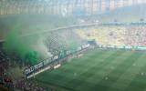 Fajerwerki w oprawie meczu Lechia - Górnik