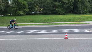 Przejazd rowerzystów przez Witomino