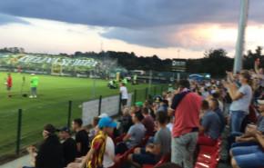 Radość po golu Bytovii w meczu z Lechią