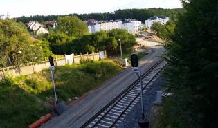 Budowa przystanku PKM Gdynia Karwiny