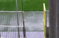 Ulewa nad stadionem w Gdańsku
