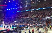 Zabawa na trybunach przed Polska - Estonia