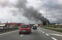 Gęsty dym widoczny na obwodnicy