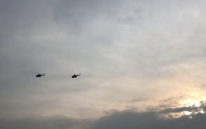 Śmigłowce Mi-14 wracają z pokazów
