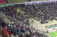 Radość kibiców po golu dla Lechii w meczu z Jagiellonią