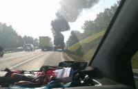 Pożar przyczepy ciężarówki na obwodnicy