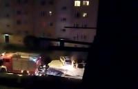 Nocny pożar auta na ul. Gniewskiej