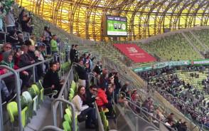 Radość po zwycięskim golu Lechii w meczu z Zagłębiem
