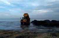 Likwidacja piaskowej łachy w Sopocie