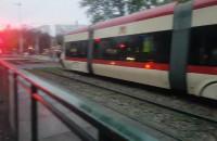 Stoją tramwaje Pomorska Chłopska hłopska