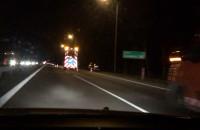 Nocne malowanie pasów na obwodnicy od Matarni