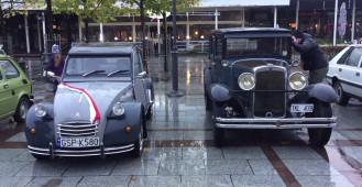 Zabytkowe auta i wozy strażackie w Sopocie