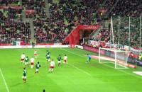 Rzut rożny dla Polski w meczu z Meksykiem