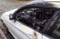 Skutki pożaru samochodu na Czarnej w Gdańsku